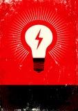 Manifesto con la lampadina Immagine Stock