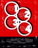 Manifesto rosso e nero di colori di numeri Immagini Stock Libere da Diritti