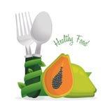 manifesto sano del cuoco di dieta di alimento Fotografia Stock Libera da Diritti