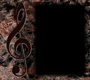 Manifesto scuro di musica di Grunge illustrazione di stock