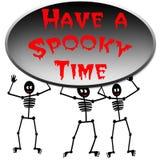 Manifesto spettrale di tempo di Halloween Fotografia Stock Libera da Diritti