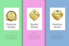 Manifesto stabilito di marca Choice premio di qualità con l'etichetta Fotografia Stock