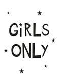 Manifesto stampabile della scuola materna delle ragazze soltanto Fotografia Stock Libera da Diritti
