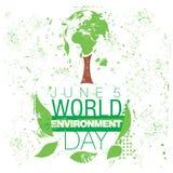 Manifesto sulla Giornata mondiale dell'ambiente internazionale royalty illustrazione gratis