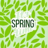 Manifesto tipografico di motivazione della primavera Iscrizione del testo di un detto ispiratore Fotografie Stock