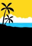 Manifesto tropicale del minimalista della spiaggia di estate illustrazione di stock