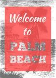 Manifesto tropicale della palma di estate Immagini Stock Libere da Diritti