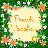 Manifesto tropicale di vacanza illustrazione di stock