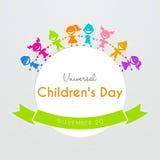Manifesto universale di giorno dei bambini Fotografia Stock