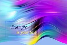 Manifesto variopinto moderno di flusso Forma liquida di Wave nel fondo blu di colore Progettazione di arte per il vostro progetto illustrazione vettoriale