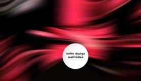 Manifesto variopinto moderno di flusso Forma liquida di Wave nel fondo blu di colore Progettazione di arte per il vostro progetto illustrazione di stock