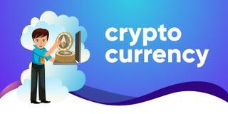 Manifesto variopinto piano di valuta cripto di Ethereum royalty illustrazione gratis