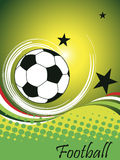 Manifesto verticale di calcio Immagine Stock
