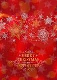 Manifesto verticale di Natale - illustrazione Illustrazione di vettore della priorità bassa di natale Ritratto rosso- della prova Immagini Stock