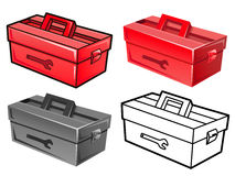 Manifold styles of Toolbox Sets. Industrial market Items Vector Royalty Free Stock Image