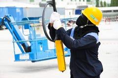 Maniglia del lavoratore una ripresa esterna Fotografie Stock Libere da Diritti