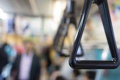 Maniglia del primo piano su un treno Immagine Stock Libera da Diritti