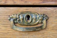 Maniglia della mobilia antica Fotografie Stock