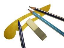 Maniglia della penna della matita fotografie stock