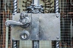 Maniglia della porta bronzea Immagini Stock