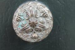 Maniglia della porta bronzea antica Fotografia Stock