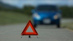 Maniglia di destra di incidente di difficoltà dell'automobile stock footage