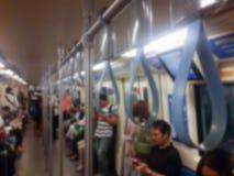Maniglia di offuscamento su un treno Immagini Stock
