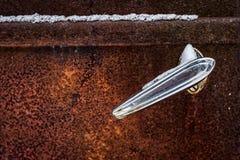 Maniglia di porta del camion di Chrome Fotografia Stock Libera da Diritti