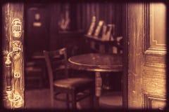 Maniglia di porta del pub Fotografia Stock