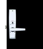 Maniglia di porta di alluminio Immagini Stock
