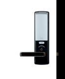 Maniglia di porta di alluminio Fotografie Stock Libere da Diritti