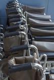 Maniglia di sedia a rotelle Immagini Stock