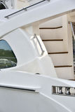 Maniglia e scala sull'yacht Fotografia Stock Libera da Diritti