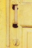 Maniglia e serratura di portello Fotografie Stock Libere da Diritti