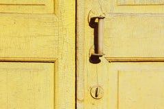 Maniglia e serratura di portello Fotografia Stock Libera da Diritti