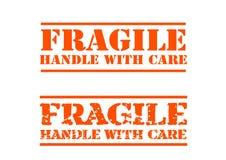 Maniglia fragile con attenzione illustrazione di stock