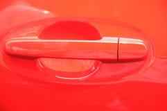 Maniglia rossa dell'automobile Fotografia Stock