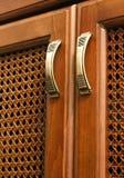 Maniglia sulle porte di legno del arabisk Fotografia Stock Libera da Diritti