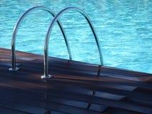 Maniglie dell'argento della piscina Immagine Stock Libera da Diritti