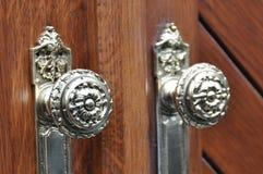 Maniglie dell'oggetto d'antiquariato Fotografie Stock
