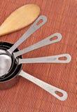 Maniglie della tazza di misurazione Fotografie Stock Libere da Diritti