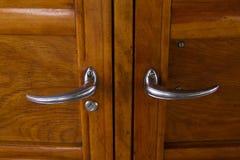 Maniglie di porta d'annata dell'automobile Fotografia Stock