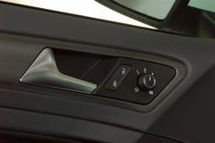 Maniglie di porta dell'automobile e dettaglio elettrico Fotografie Stock Libere da Diritti