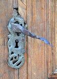 Maniglie di porta forgiate Fotografia Stock