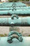 Maniglie sui barilotti del cannone ornati oggetto d'antiquariato Immagini Stock Libere da Diritti