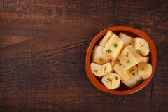 Manihot esculenta cassava, yuca, manioc, mandioca, Brazilian ar stock photography