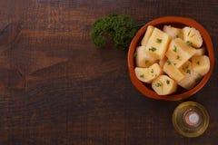 Manihot esculenta maniok, yuca, maniok, mandioca, Braziliaans AR Stock Foto