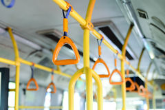 manija amarilla del autobús Fotos de archivo libres de regalías