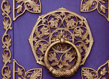 Manija antigua, puerta del metal Imagenes de archivo