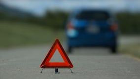 Manija dejada accidente del problema del coche almacen de metraje de vídeo